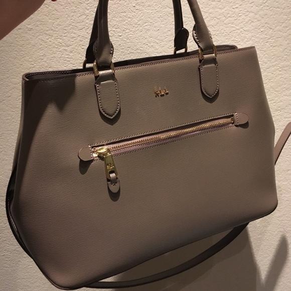991ba3c7e2 Lauren Ralph Lauren Handbags - Lauren Ralph Lauren Saffiano Sabine Medium  Satchel